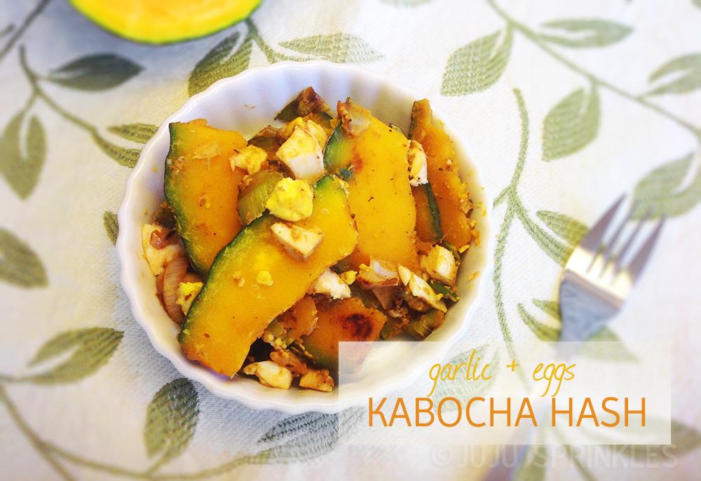 Garlicky Kabocha Hash 1460