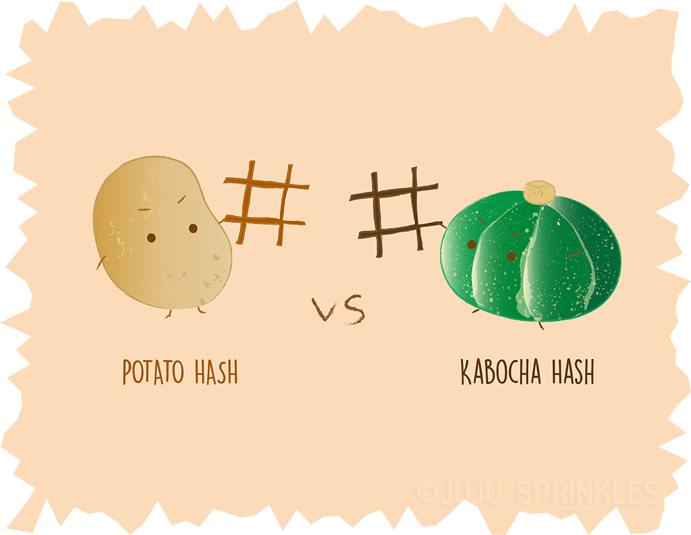 Potato Hash vs Kabocha Hash