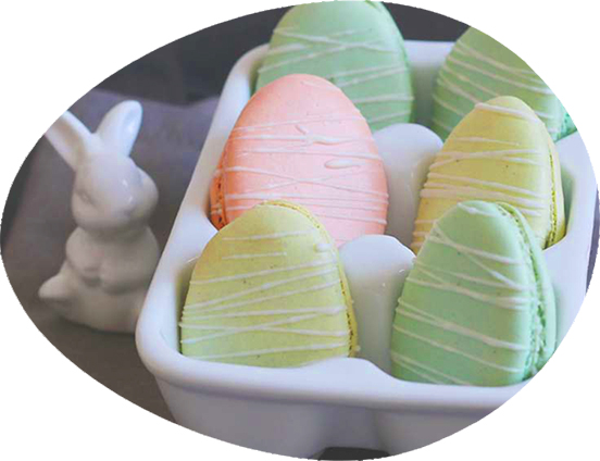 3 Easter Macarons Lemon