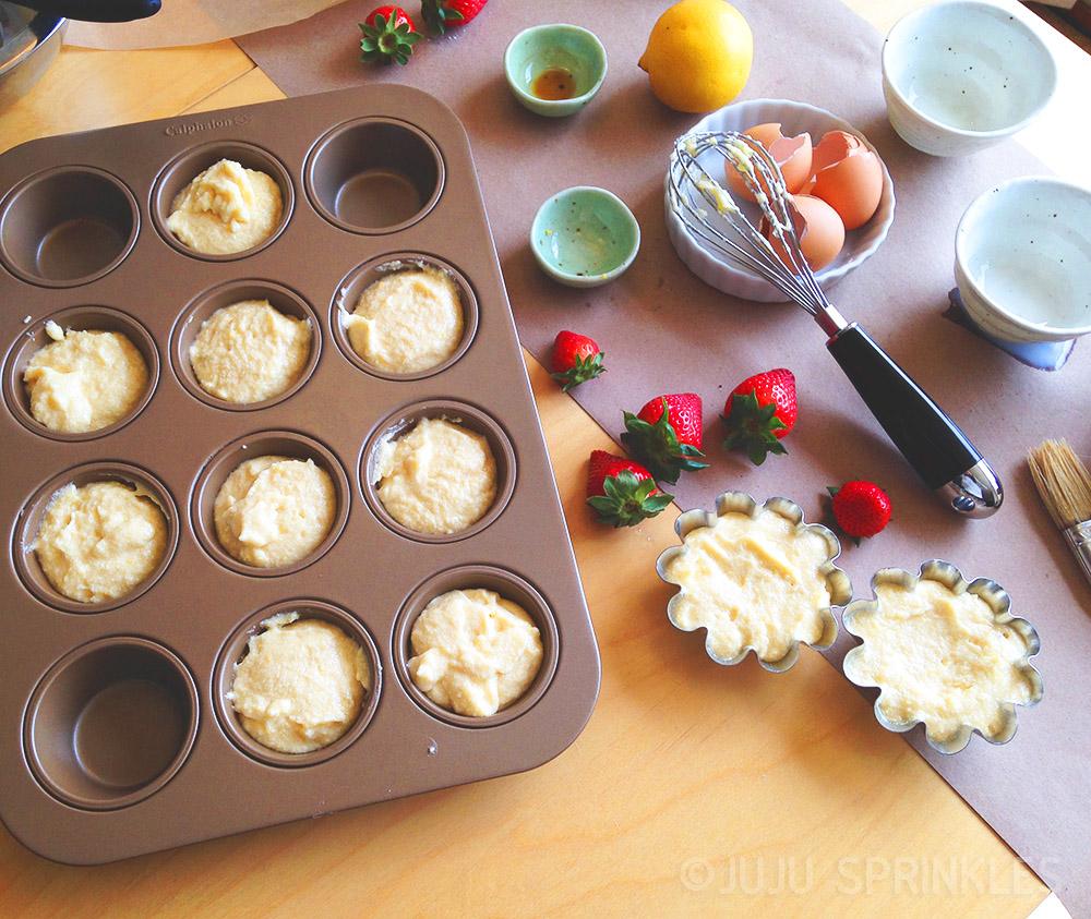 Lemon Cake with Strawberries Batter 6608