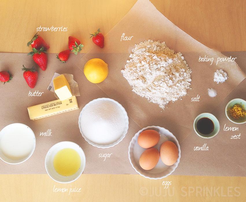 Lemon Cake with Strawberries Ingredients 6595