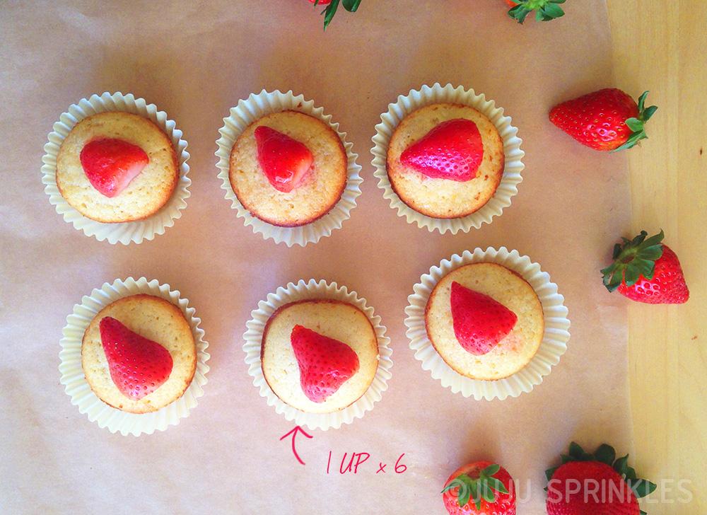 Lemon Cake with Strawberries Round 6657 up