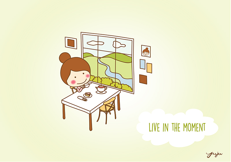 Live in the moment KonMari