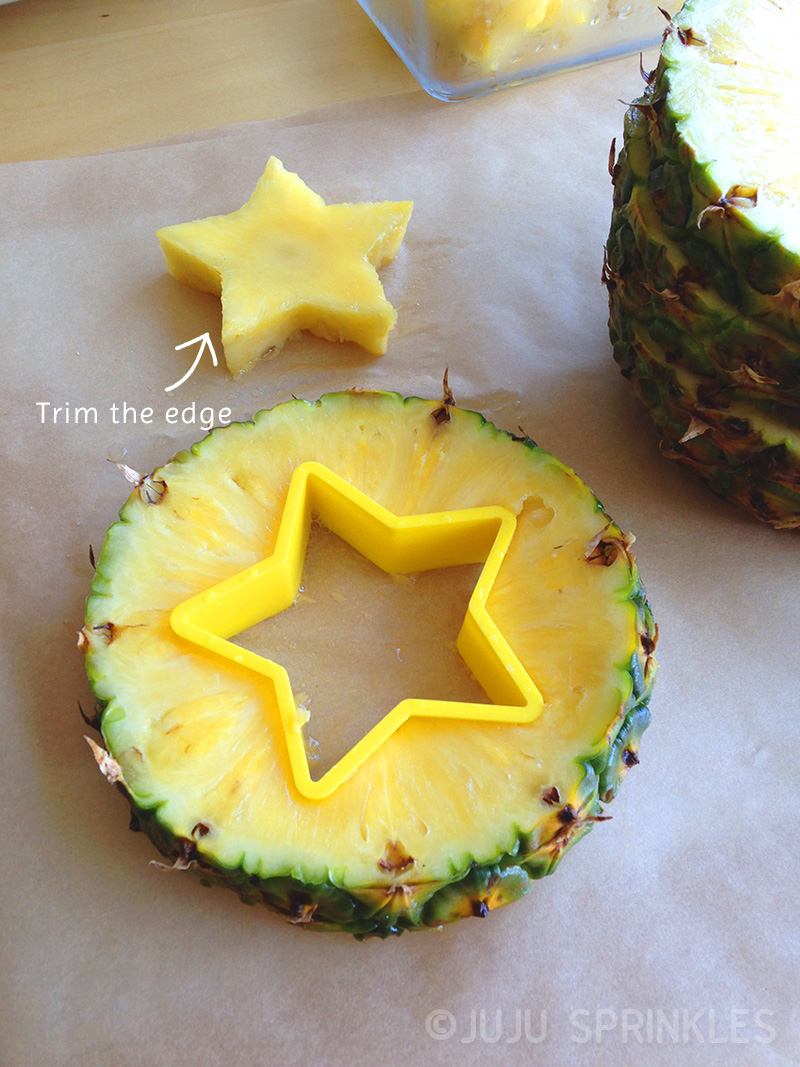 Fruit bouquet pineapple stars copy