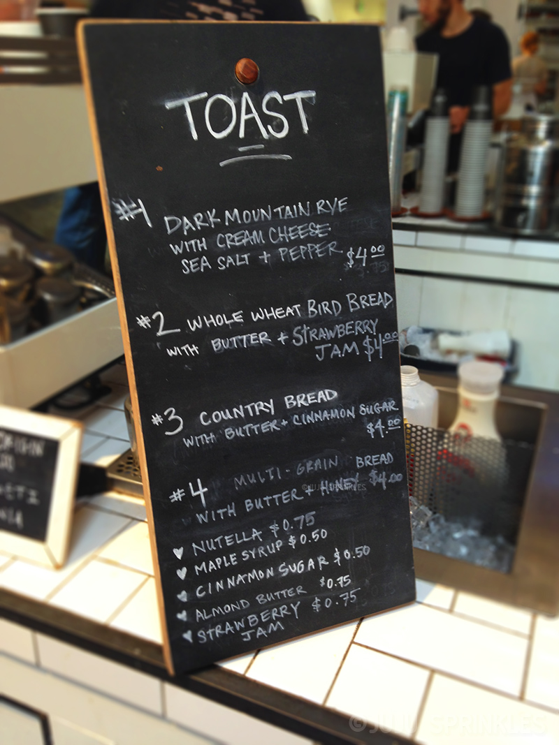 The Mill Toast Menu 8114