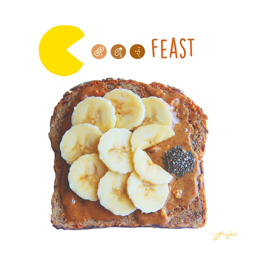 Juju Sprinkles Toast Banana PAC Man Feast
