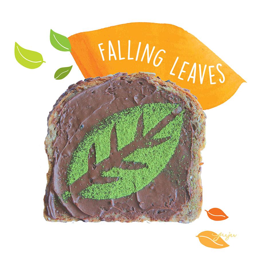 Juju Sprinkles Toast Matcha Nutella Falling Leaf